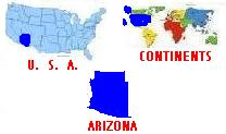 Map of Continents/United States/Arizona