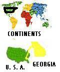 Flag & Map of Georgia