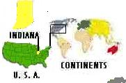 Picture of Continents, U.S.A. & Indiana
