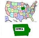 Map of United States & Iowa