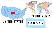 Flag & Map of Kansas